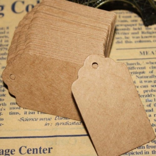 100 Pcs Blank DIY Kraft Paper