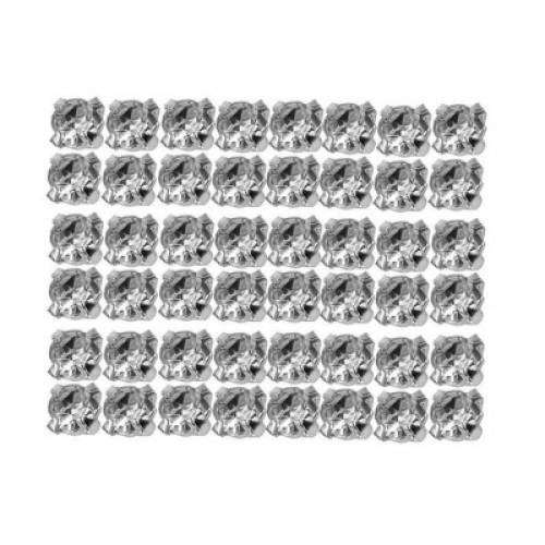 100Pcs Silver Plated Clear Handmade Jewelry