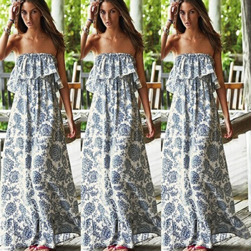 Evening Party Boho Floral Maxi Long Dress