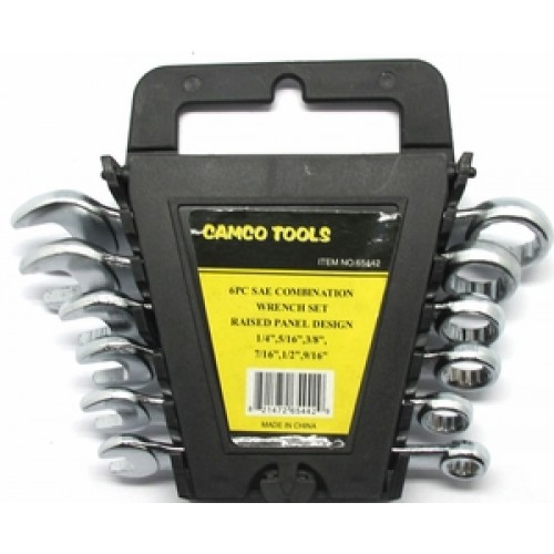 Camco Tools 6 pc. SAE Combination Wrench Set