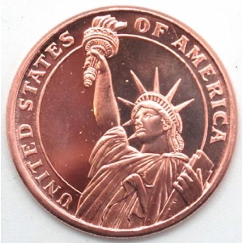 Statue of Liberty 1 Ounce .999 Fine Copper Medalion