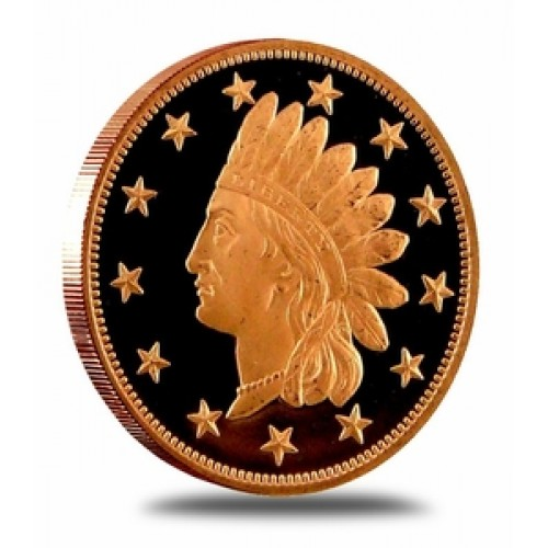 Indian Head Penny Design 1 Ounce .999 Fine Copper Medallion