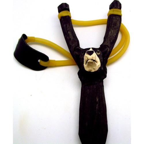 Hand Carved Wooden Slingshot- Bear