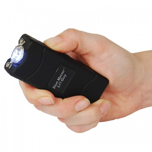 12,000,000 volts Black Stun Gun w Flashlight & Holster