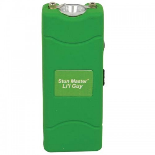 12,000,000 volts Green Stun Gun w Flashlight & Holster
