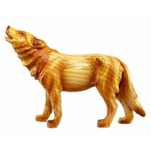 Wood-like Carved Wolf