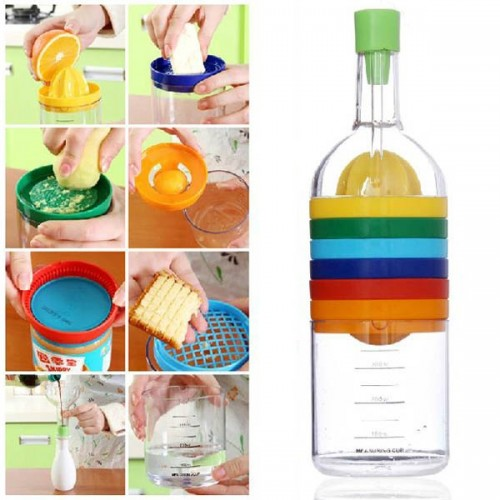 8-in-1 Colorful Multifunctional Kitchen Tool Bottle