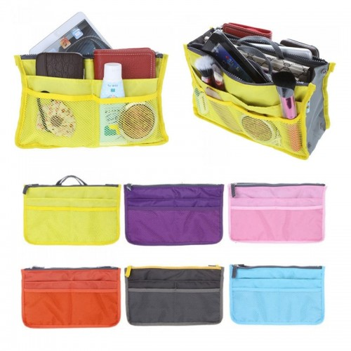 Colorful Home Daily Organizer Bag Women Makeup Cosmetic Storage Bag Travel Insert Handbag