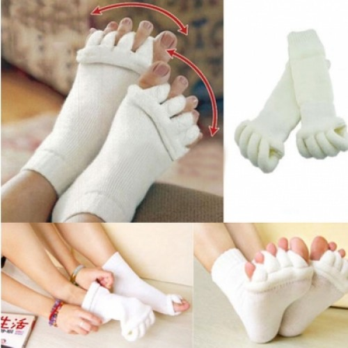 Men Women Comfort Foot Toes Alignment Socks Stretch Tendon Relieve Pain Feet