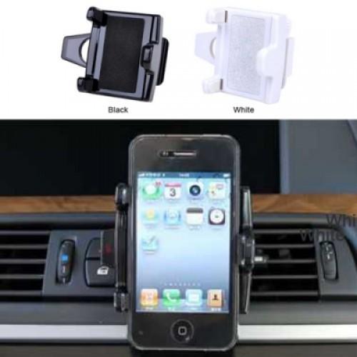 Universal Adjustable 360-Degree Vent Mount Holder for Mobile Phone - Black/White