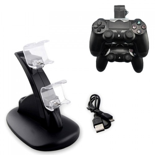 Dual USB Charge Dock Gaming Controller Charging Stand for Sony Play Station 4 PS4 Controller Charger