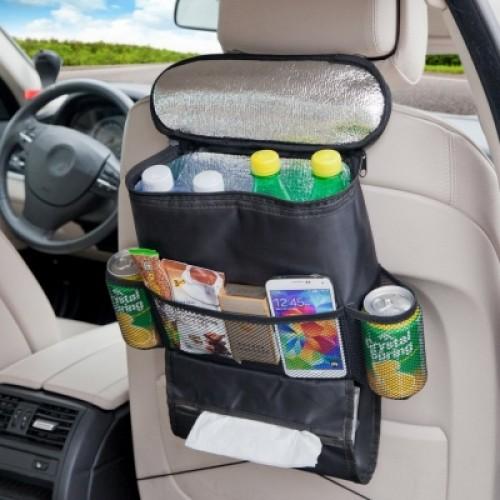 Standard Size Car Seat Back Organizer Multi-Pocket Travel Storage Bag Heat Preservation