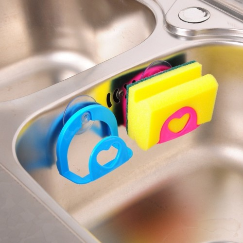 Creative Convenient Sponge Holder Suction Cup Sink Holder Kitchen Tools Gadget Decor Wall Mounted Type
