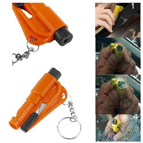 3 in 1 Mini Emergency Safety Hammer Auto Car Window Glass Breaker Seat Belt Cutter Rescue Hammer Car Life-saving Escape Tool