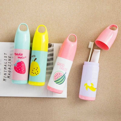 Cute Fruit Style Toothbrush Holder Toothpaste Case Portable Toothbrush  Storage Container Random Delivery
