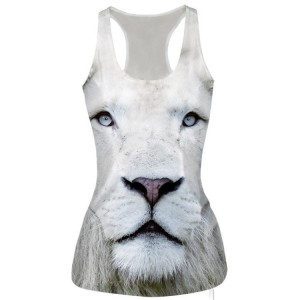 Slim Animal Tiger 3D Vest Sleeveless Top