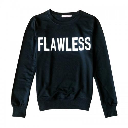 """Flawless"" print causal sweatshirts women"