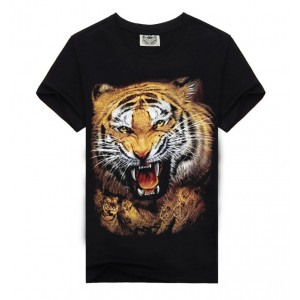 Fashion Men T-shirt 3d Print Tiger