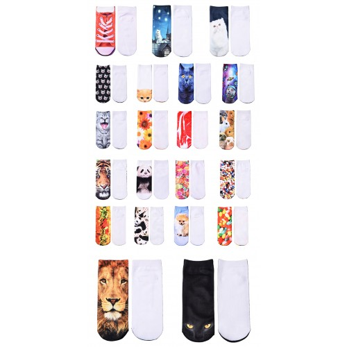 JUMEAUX Hot Sale 3D Prints Animal Socks