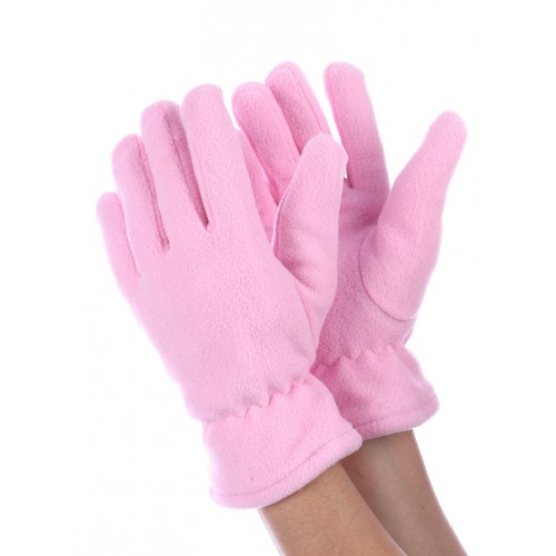 DOUBLE LAYERED FLEECE GLOVES (PINK)