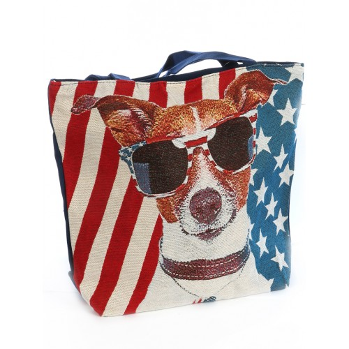 PATRIOTIC JACK WOVEN TOTE BAG ACCESSORY