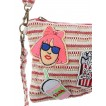 PATCHED WOVEN FABRIC PURSE BAG ACCESSORY