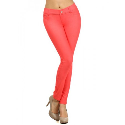 FRONT BACK POCKET JEGGINGS APPAREL