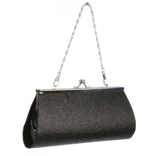 GLITTER FINISH EVENING CLUTCH BAG ACCESSORY