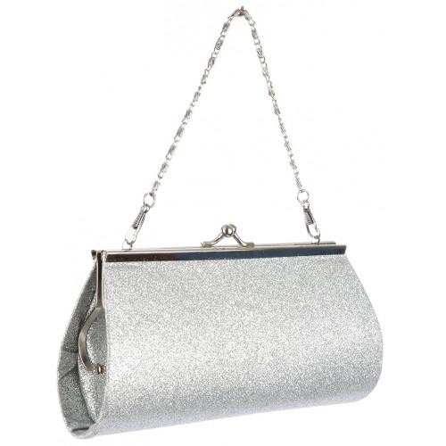 GLITTER FINISH EVENING CLUTCH BAG ACCESSORY