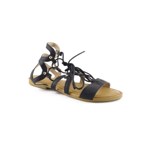 Bohemian lace up sandals, gladiator inspired
