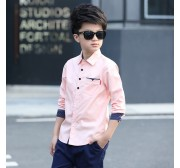2017 Kids Clothes Spring Boys Cotton Blouses Boy Kids Long Sleeve Shirt Boys Fashion Spring Shirt 5-15 Years Turn-down Collar
