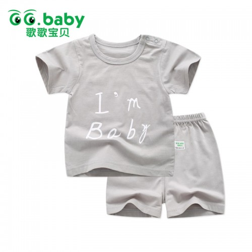 2pcs Baby Boy Outfit Set Summer 2017 Cute Newborn Baby Sets Infant Girl Clothing Suits Short Sleeve Cotton Toddler Baby girl Set