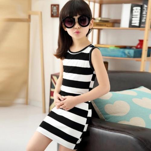 Girls Dress Summer Spring Striped Mini Dresses For Girls
