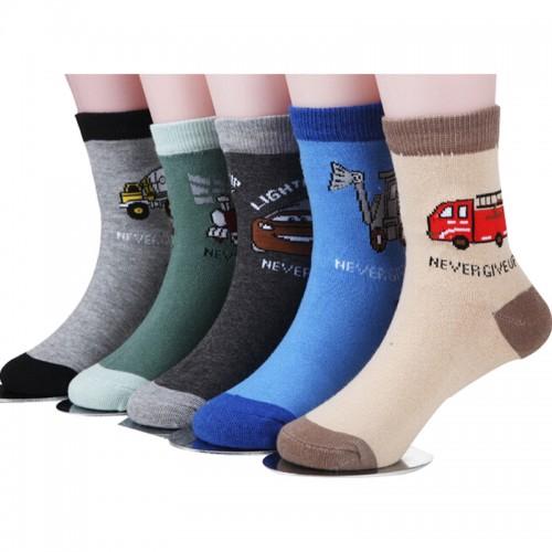 5 pair /1 lot spring & autumn kids socks cotton cartoon car