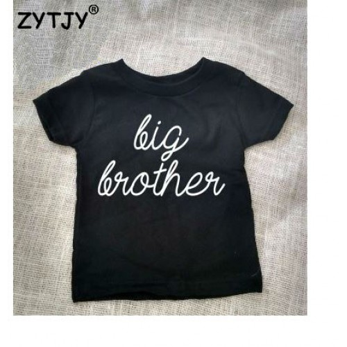 1788fbcb69 Big Brother Letters Print Kids t shirt Boy Girl shirt Casual Children  Toddler Clothes Funny Top