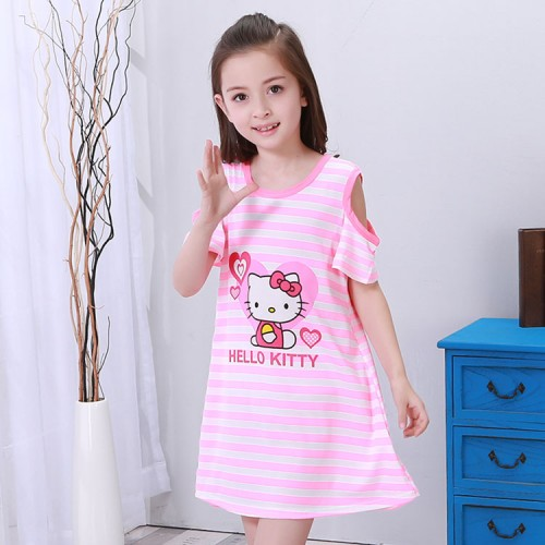 Girl Nightgowns Dress kids Home Clothes 3-13Y New 2017 Summer Style Children Cloth Girls Sleepwear big child Princess