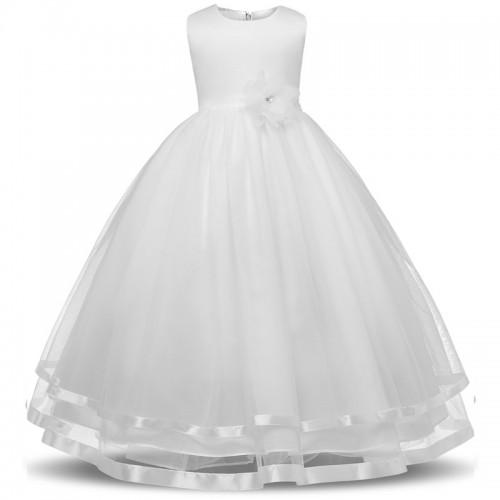 RBVH Flower Girl Dress For Weddings Kids Prom Gown Designs Fancy Wear