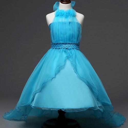 RBVH Flower Girl Tulle Evening Dress Birthday Party Girl Wear