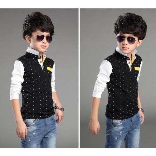 Cotton Casual Children Clothing Cute Polka Dot Boy T-Shirts