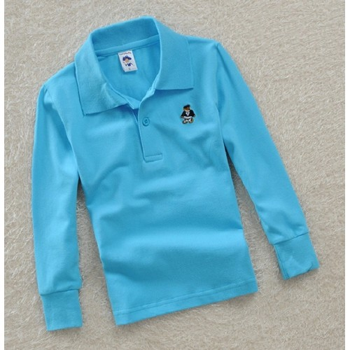 Top quality kids polo shirts white red yellow blue t shirt