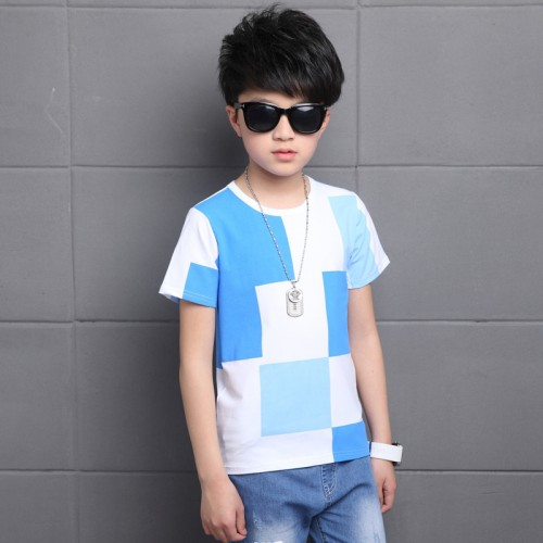 Tops for Boys O-neck Cotton Short Sleeve T-shirts
