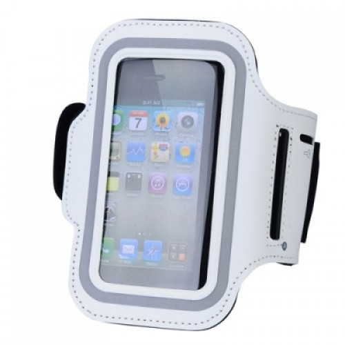 Arm Band Sport Bag Pouch Case for iPhone 5 - White