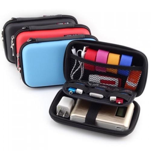 1pcs Mobile Hard Disk Case Power Bank Box Earphone Holder