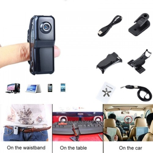 Mini Sport Camera DV F-D80 DVR Video Camera Micro SD Card Supports 16GB with Bracket and Clip