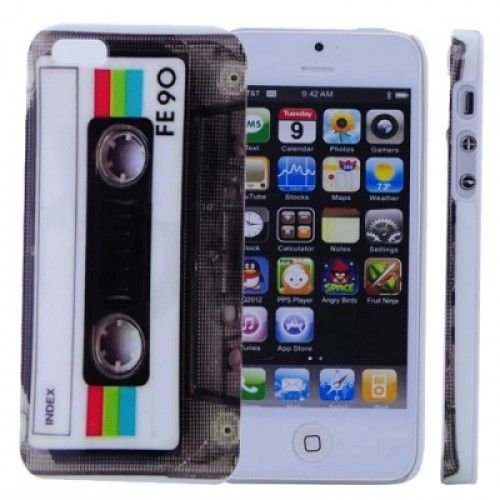 Hard Back Case Cover with Retro Tape Pattern for iPhone 5