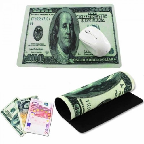 Creative Money Banknote Currency Mouse Pad Mice Mat for Computer 20x28x0.2cm