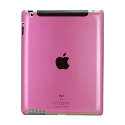 Simple Material of Crystal Hard Cover Case Back Protector for iPad 2/iPad 3-Light red