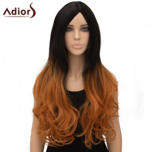 Curly Long Ombre High Temperature Fiber Cosplay Wig - Ombre 1211#