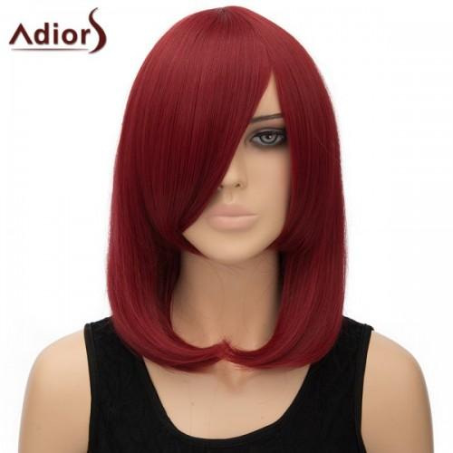 Inclined Bang Straight High Temperature Fiber Adiors Cosplay Wig
