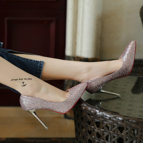 10cm Size 34-39 Pointed Toe women banquet Pumps lady Wedding